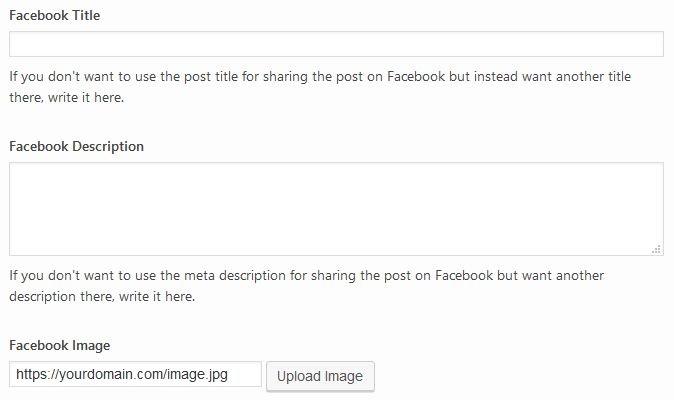 Yoast Facebook image settings