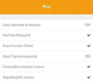 KeySearch Pro plan