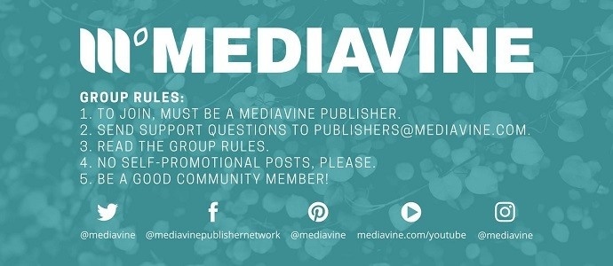 Mediavine publishers Facebook group