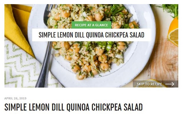 Jump to Recipe button example 3