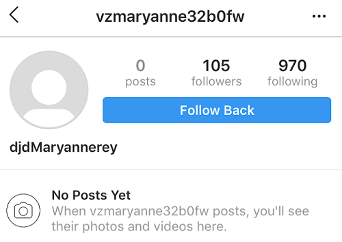 Instagram ghost account