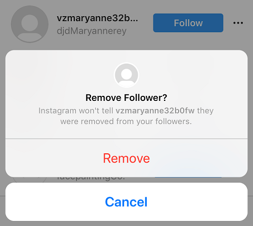 How to remove Instagram ghost follower