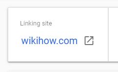 Expired domain backlink example