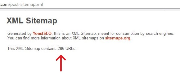 Sitemap with posts