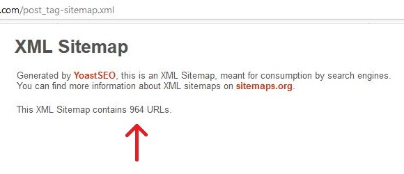 Sitemap with tags