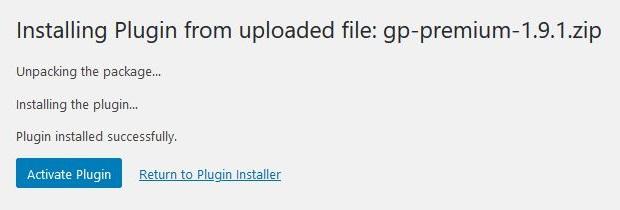 Install and activate GP Premium