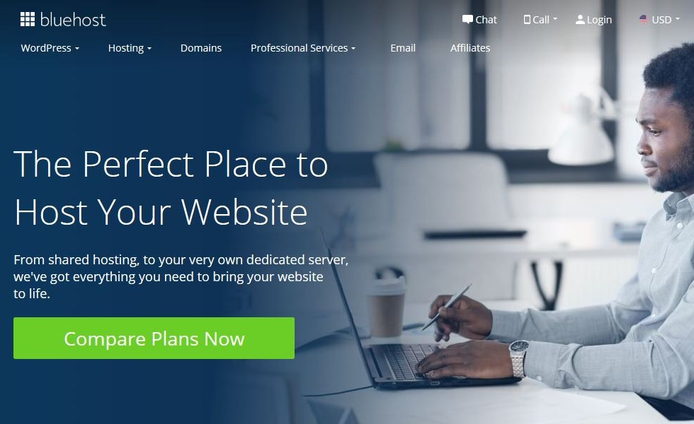 Web hosting with Bluehost