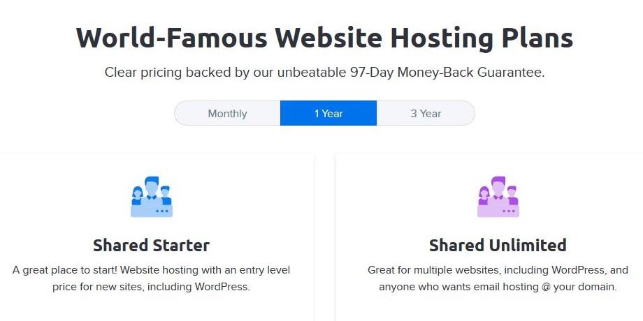 DreamHost shared hosting plans