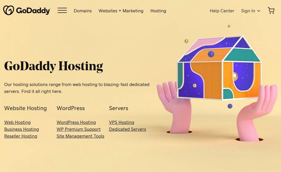 Web hosting with GoDaddy