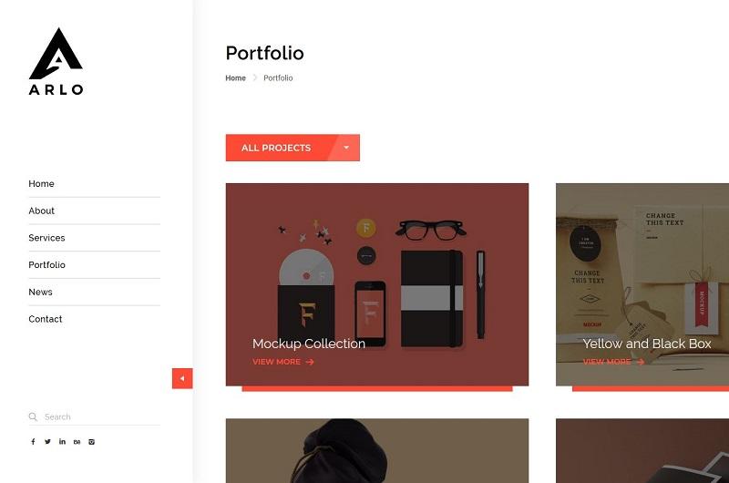 Arlo WordPress theme