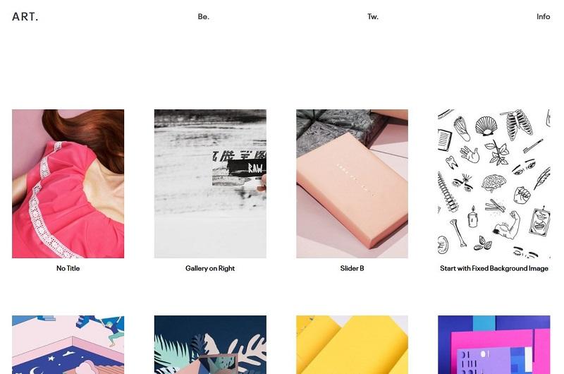 ART portfolio WordPress theme