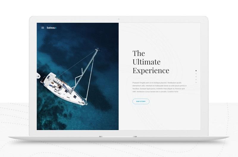 Bateaux portfolio WordPress theme