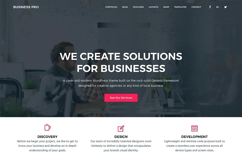 Busines Pro WordPress theme