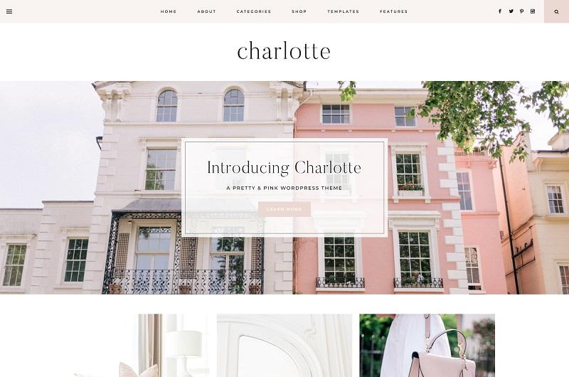 Charlotte feminine WordPress theme