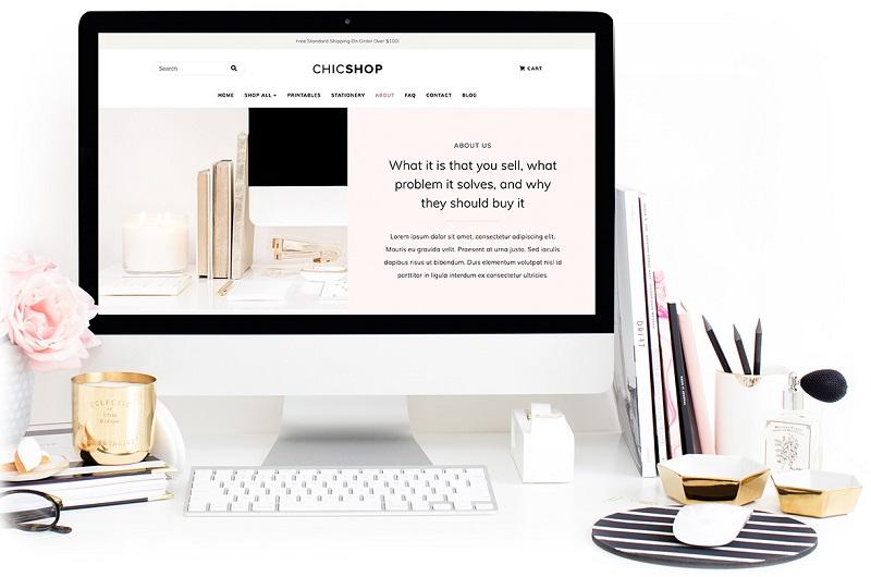 ChicShop feminine WordPress theme