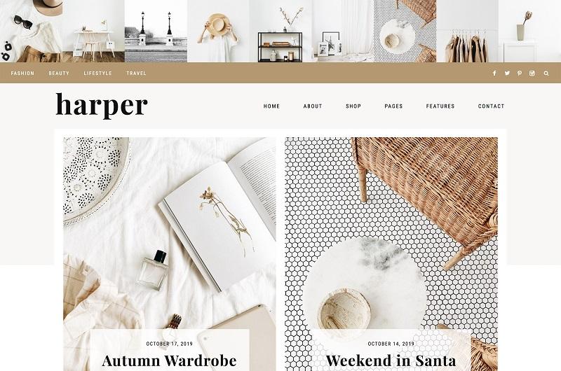 Harper WordPress theme