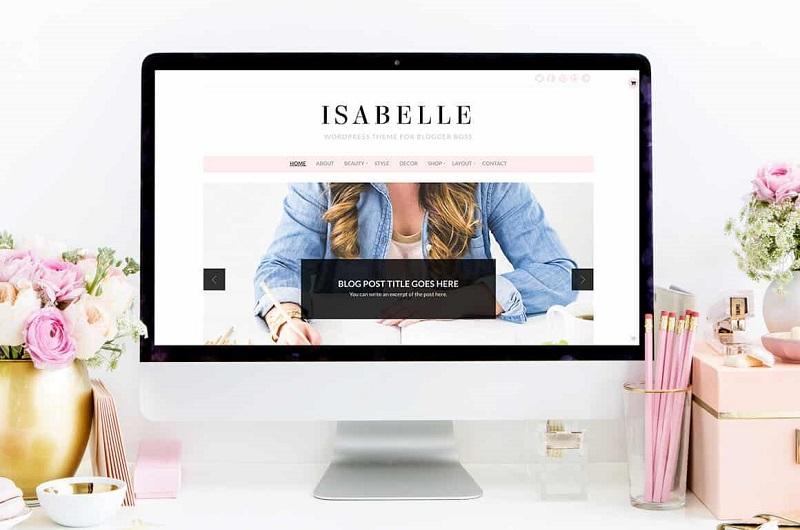 Isabelle feminine WordPress theme