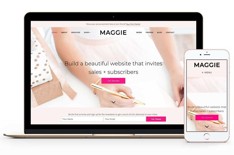 Maggie feminine WordPress theme