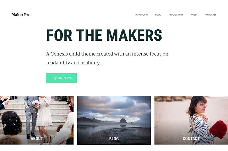 Maker Pro WordPress theme