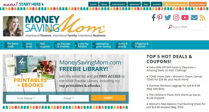 Money Saving Mom finance blog name