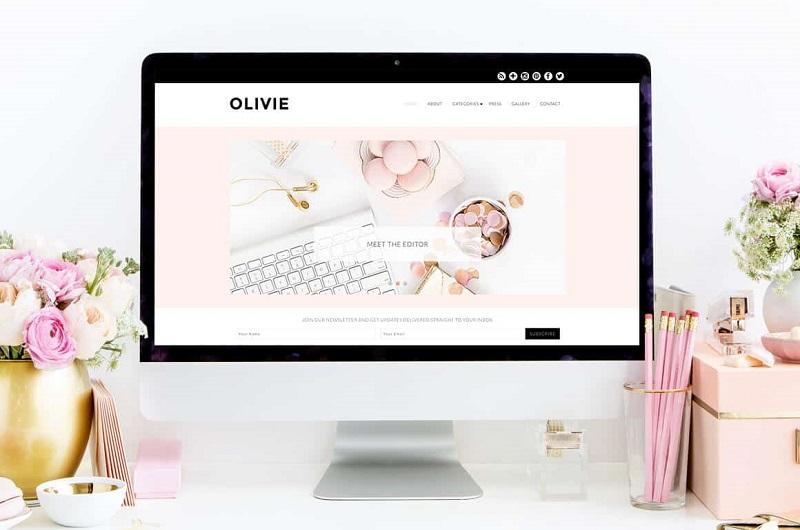 Olivie feminine WordPress theme
