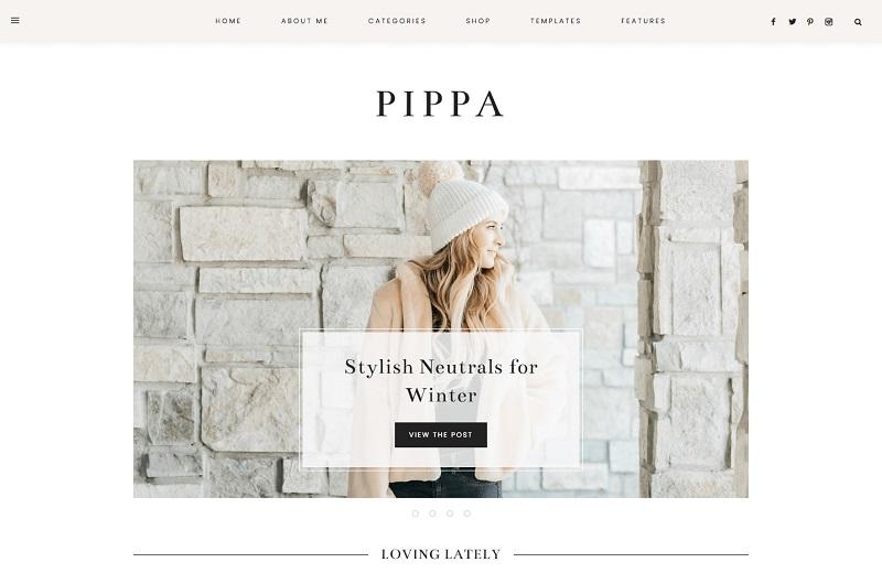 Pippa feminine WordPress theme