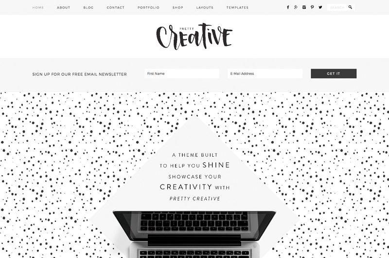 Pretty Creative Pro WordPress theme