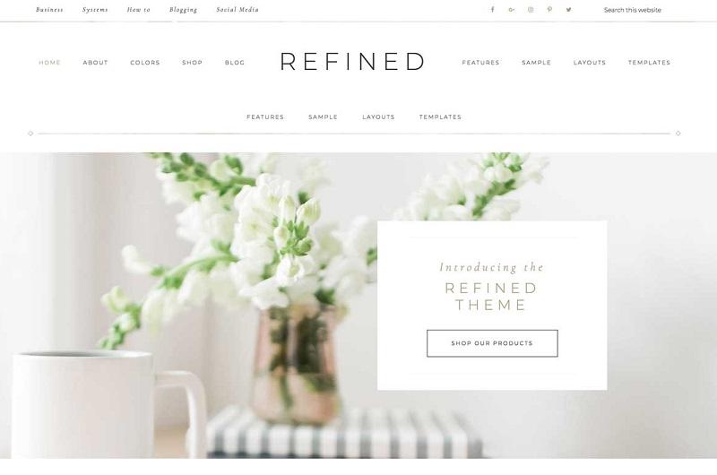Refined WordPress theme