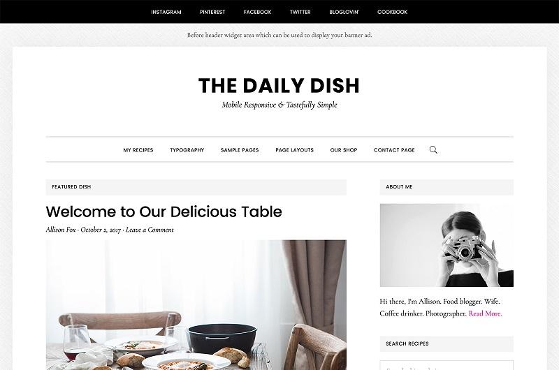 Daily Dish Pro WordPress theme