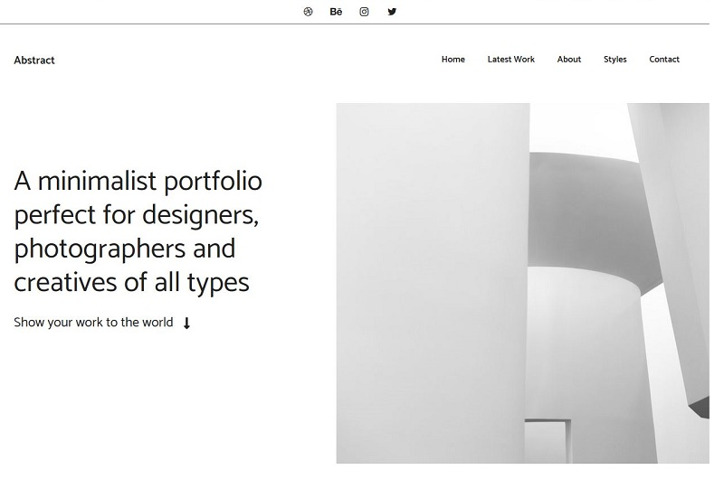 GeneratePress Abstract WordPress template