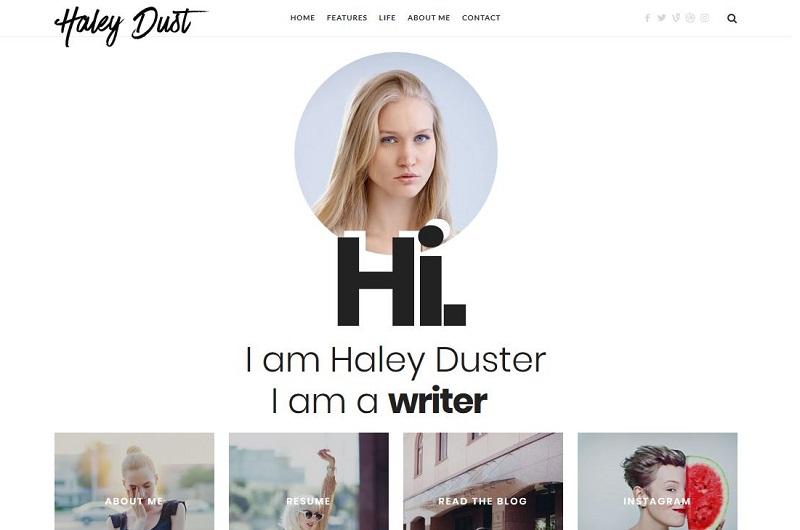 Impose WordPress theme for writers