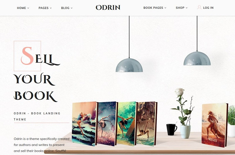 Odrin WordPress theme for writers