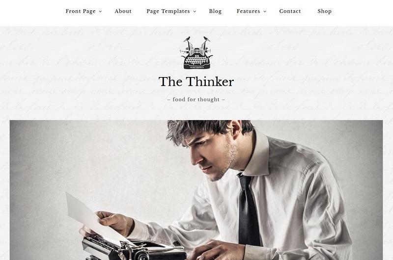 The Thinker WordPress theme