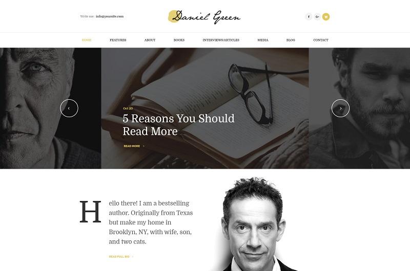 Writers and Journalists Blog WordPress theme