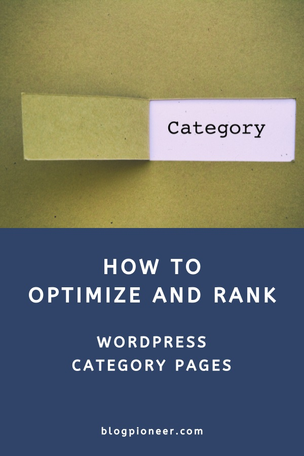 WordPress category pages and SEO (how to optimize categories)