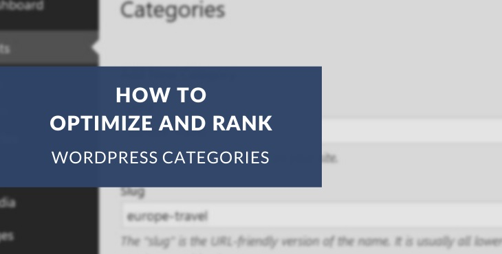 WordPress category pages and SEO