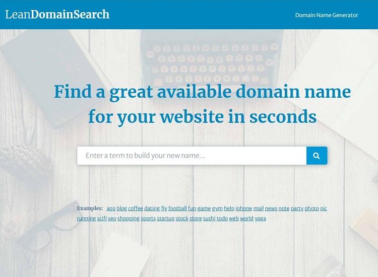 Lean Domain Search domain name generator