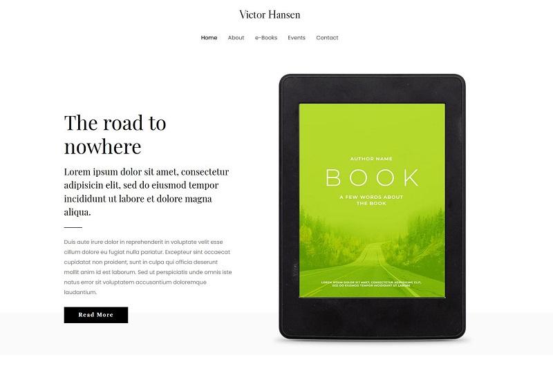 Astra e-Book Author WordPress theme
